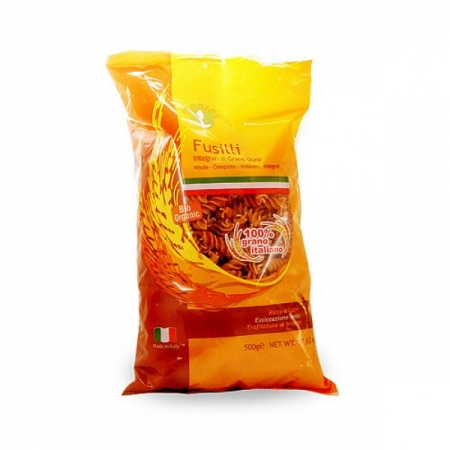 Био пълнозърнести пшеничени макарони еличе спирала 500 гр