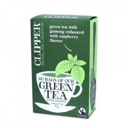 Зелен чай с женшен и аромат на малина-clipper