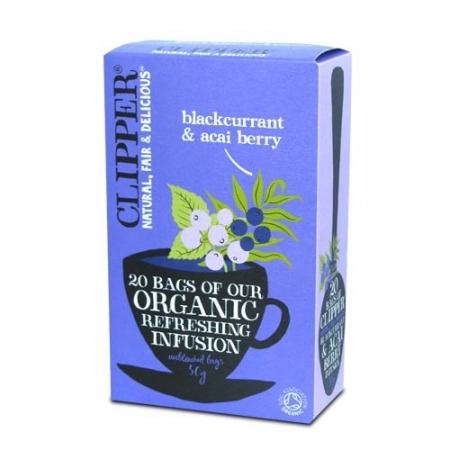 Био освежаваща плодова смес за чай от касис и акаи-clipper