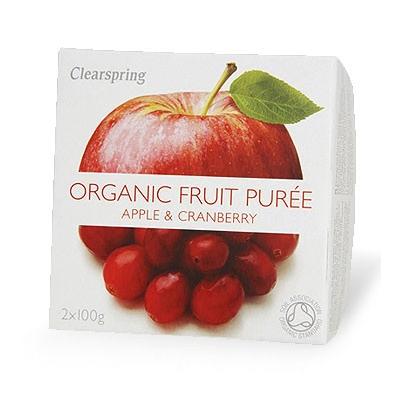 Био пюре от ябълки и боровинки 2 x 100 гр