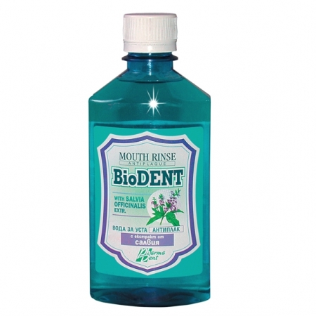 Биодент Антиплак – Вода за уста със Салвия 300 ml