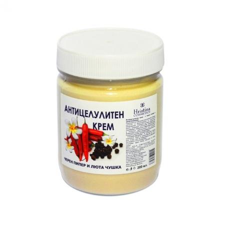 Антицелулитен крем с Черен пипер и Люта чушка-200мл.