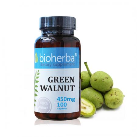 Зелен oрех 450 мг. - 100 капс.
