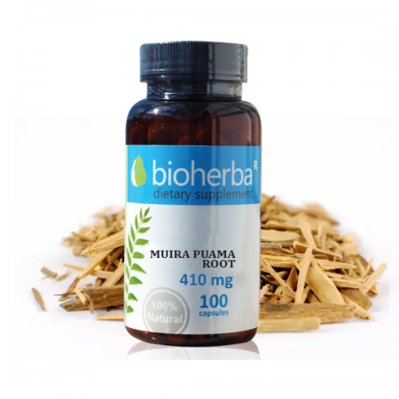 Муира пуама корен (Ptychopetalum olacoides) 410 мг. - 100 капс.