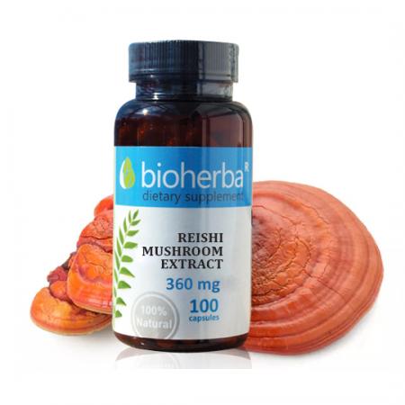 Гъба Рейши екстракт /Ganoderma lucidum/ 360 мг. - 100 капс.