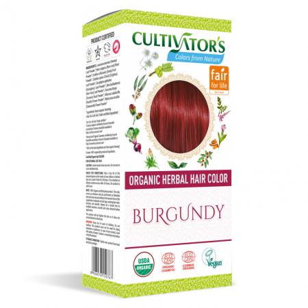 Био билкова боя за коса - бургунди - Cultivator's 100гр.
