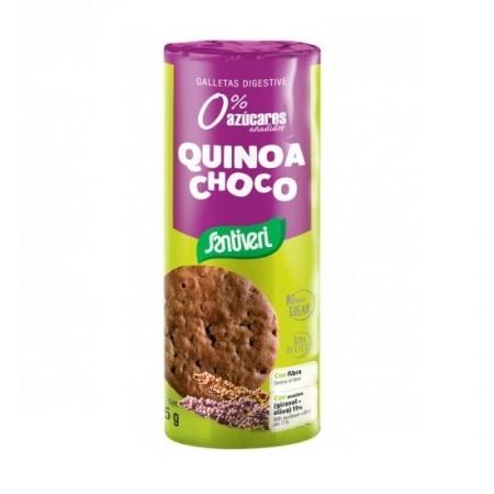 Пълнозърнести бисквити с Киноа и Шоколад , без добавена захар, 175г, Santiveri