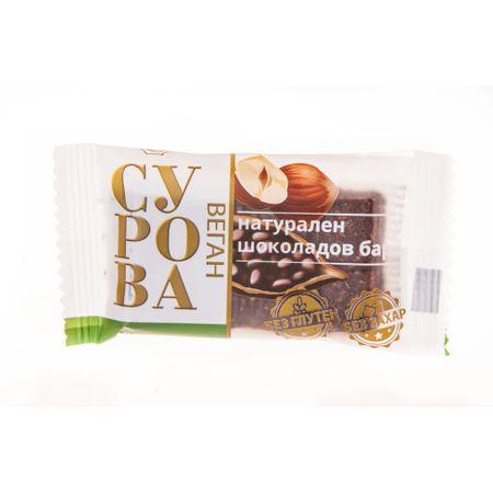 Суров натурален шоколадов бар Сурова Лешник 27 гр.