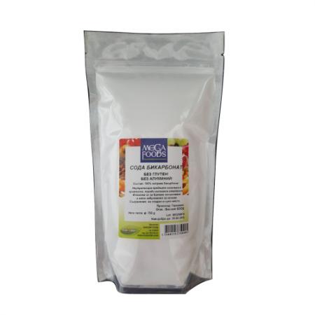 100% чиста сода бикарбонат-без глутен-без алуминий-750гр.
