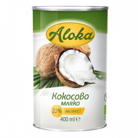 Био кокосово мляко 22% масленост 400мл