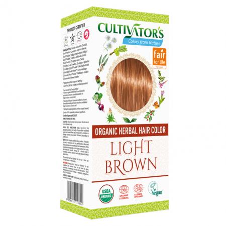Био билкова боя за коса - светлокафяво - Cultivator's 100гр.