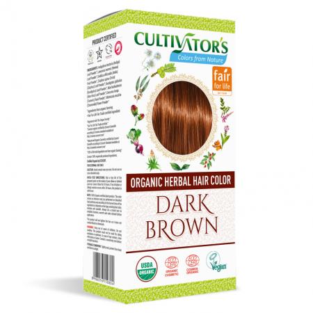 Био билкова боя за коса - тъмнокафяво - Cultivator's 100гр.