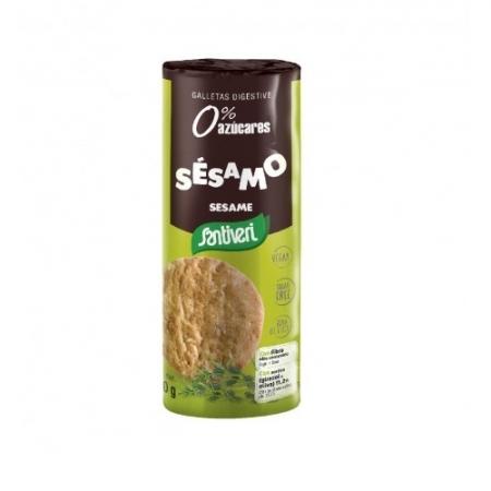 Пълнозърнести Сусамови бисквити, без добавена захар, лактоза и яйца 190г,