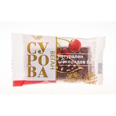 Суров натурален шоколадов бар Сурова Череша 27 гр.