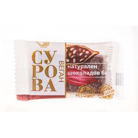 Суров натурален шоколадов бар Сурова Бадеми 27 гр.