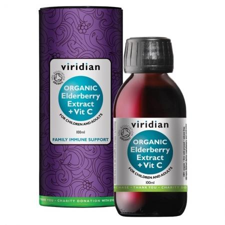 Органичен Екстракт от Черен Бъз плюс Витамин С - 100 мл