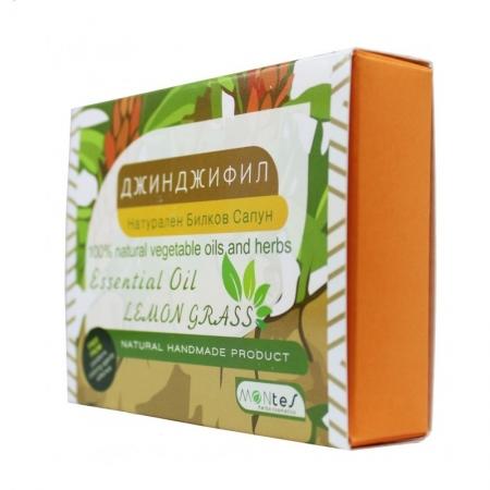 Натурален Билков Сапун - Джинджифил с етерично масло Лимонова Трева